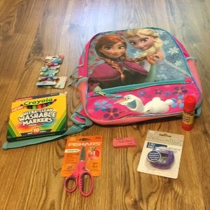 Frozen Backpack 7-pc back to school set NWT CUTE💕